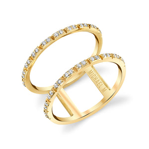 Double Diamond Eternity Band