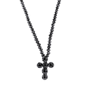 Black Diamond Cross and Necklace