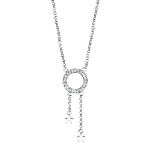 Mini Star Drop Diamond Necklace