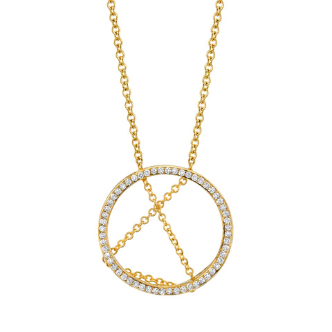 Open Circle Diamond Pendant