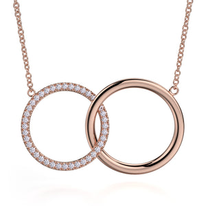 Double Diamond Circle Necklace