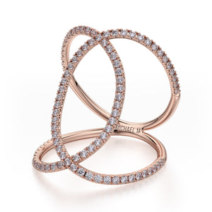 Double Diamond Circles Ring