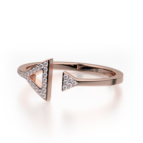 Double Diamond Triangle Ring