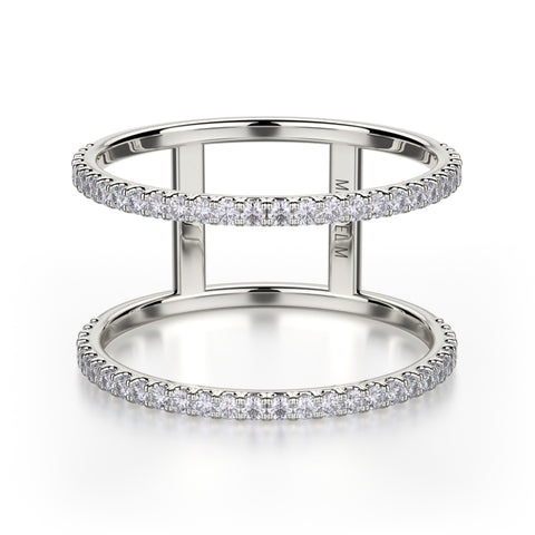 U-Set Double Row Diamond Eternity Band