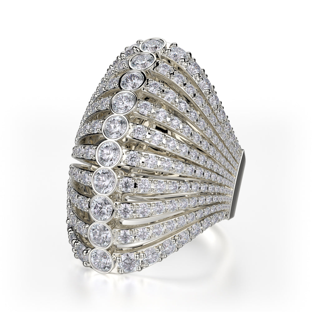 Diamond Fan Ring