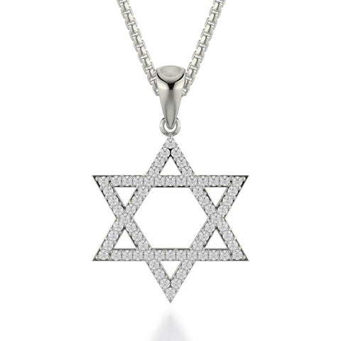 Star of David Diamond Pendant