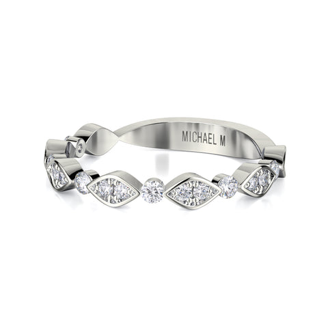 Bezel Marquise Diamond Band