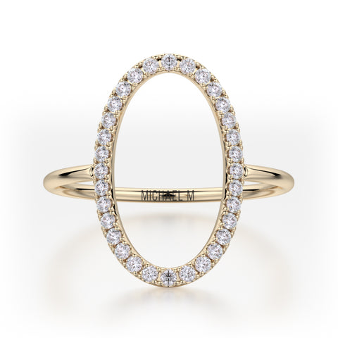 Open Oval Diamond Ring