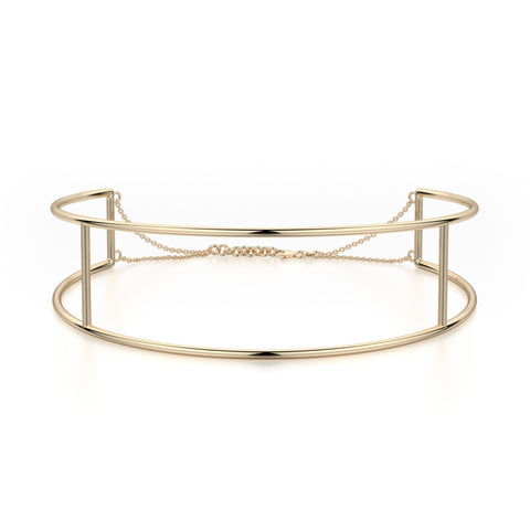 Double Bar Metal Choker