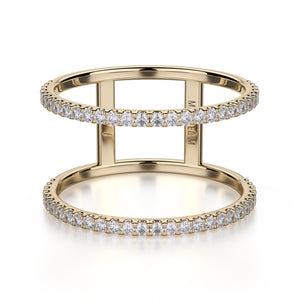 U-Set Double Row Diamond Band