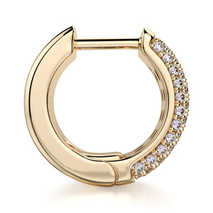 Huggie Diamond Hoop Earrings