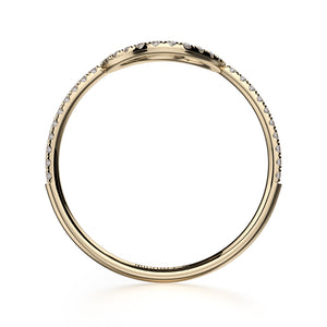 Diamond Open Circle Ring