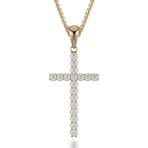 Medium Diamond Cross Pendant