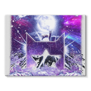 StarClan Etching Stretched Canvas