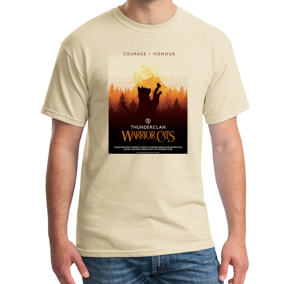 ThunderClan Warrior Cats Courage + Honour Tee