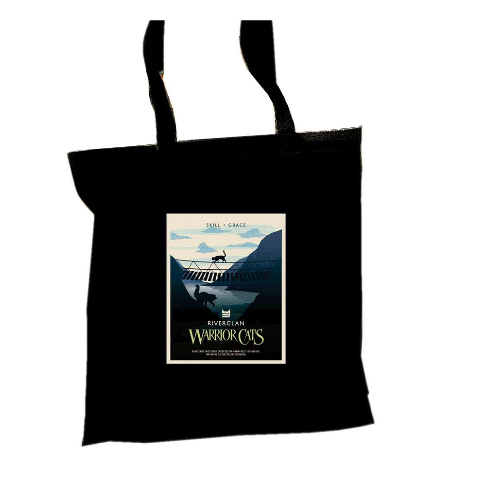 RiverClan Epic Portrait Tote  - Black