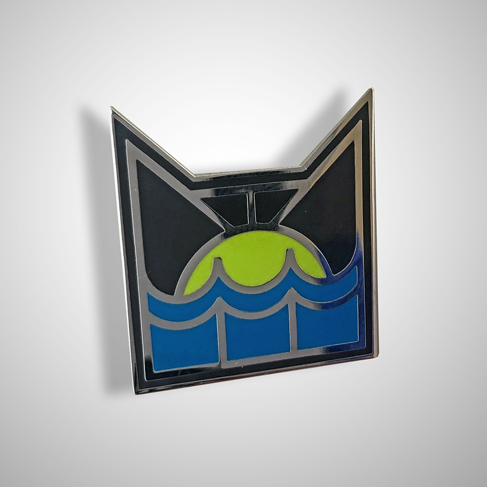 Art Deco RiverClan Pin Badge - IN STOCK NOW