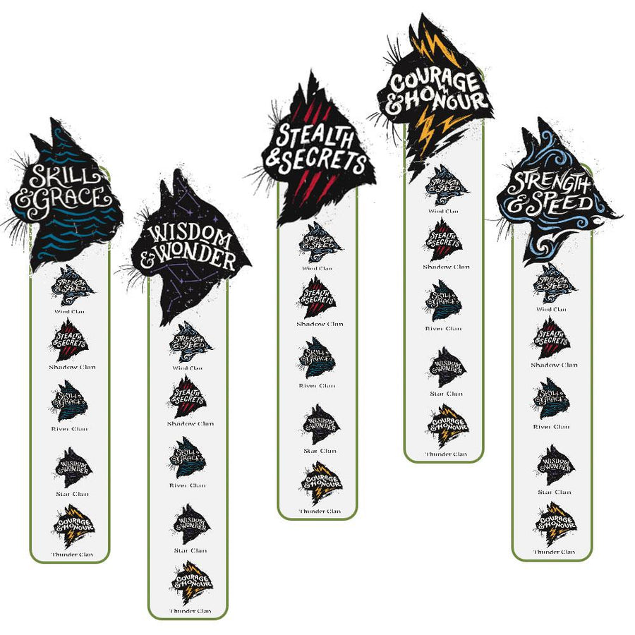 Warrior Cats Bookmark 5-Pack