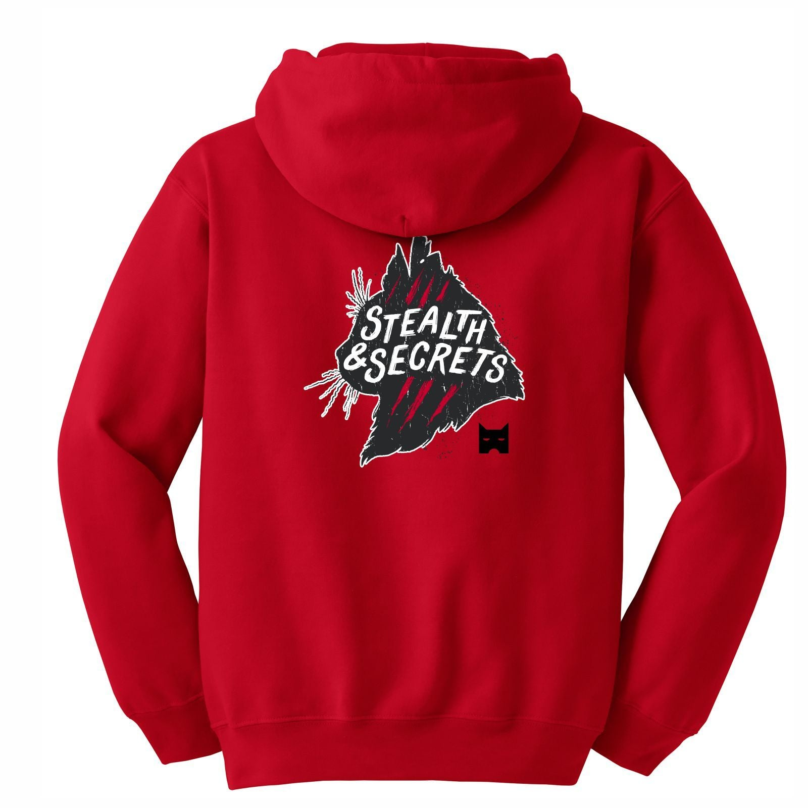 WARRIORCATS: SHADOWCLAN Adult Fleece Hoody - Red