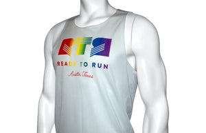 White RTR Rainbow Singlet - Mens