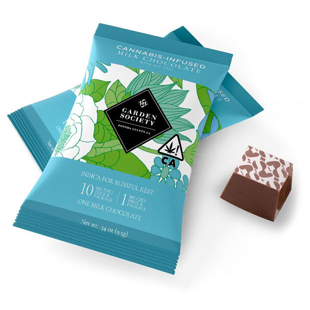 Garden Society Milk Chocolates with Sea Salt (single)