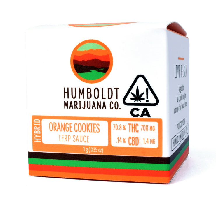 Humboldt Marijuana Co Orange Cookies Live Resin 70.8% THC