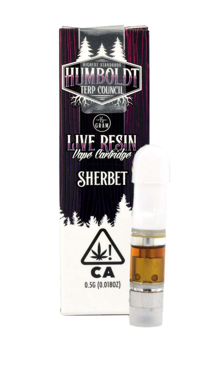 Humboldt Terp Council Sherbet Live Resin Cartridge 48.83% THC