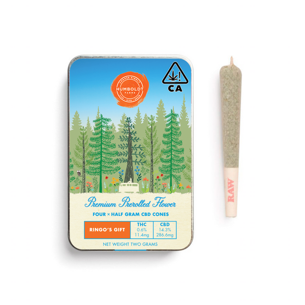 RIngo's Gift ACDC CBD pre-rolled cannabis joints Petaluma
