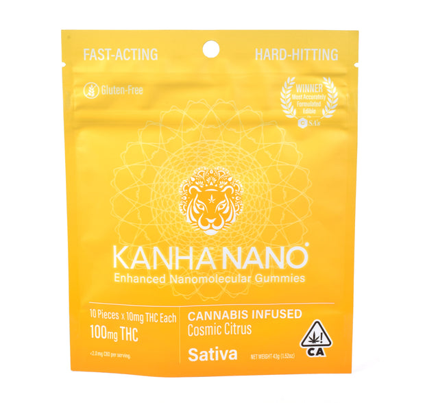 Kanha Cosmic Citrus Sativa Gummies