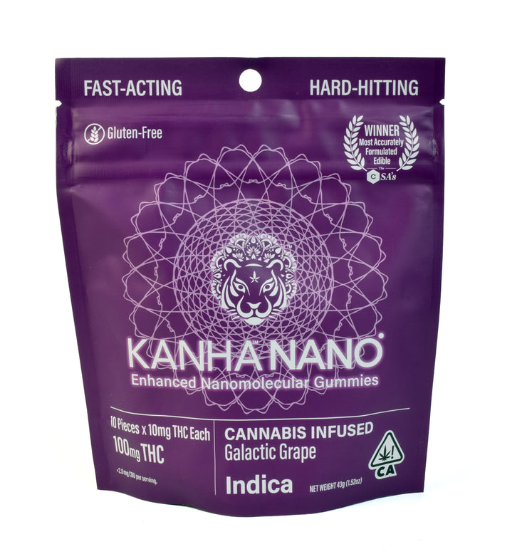 Kanha Galactic Grape Indica Nano Gummies 100mg