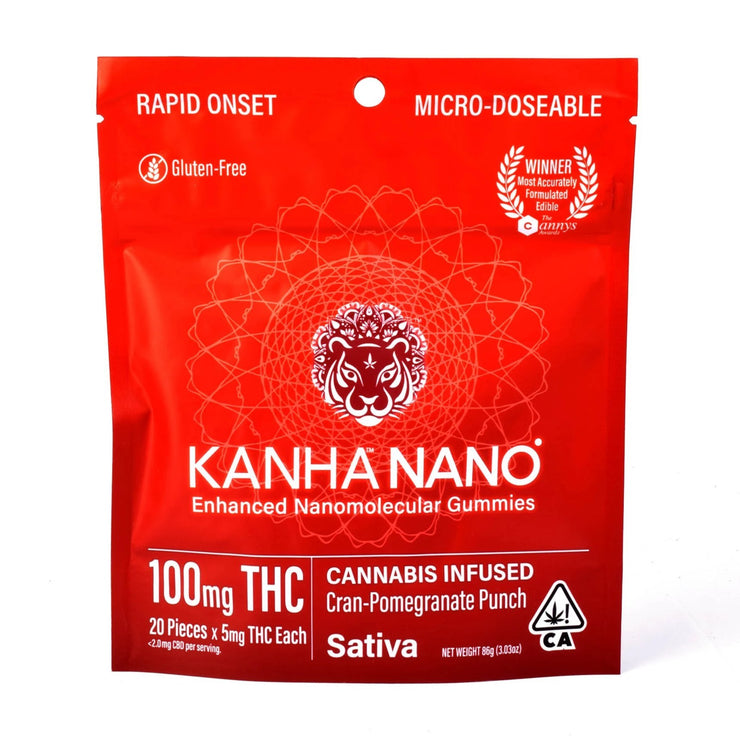 ***promo*** Kanha Cran Pomegranate Punch Nano Gummies 100mg