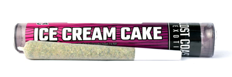 Lost Coast Exotics Ice Cream Cake 1g Pre-roll 12.83% THC