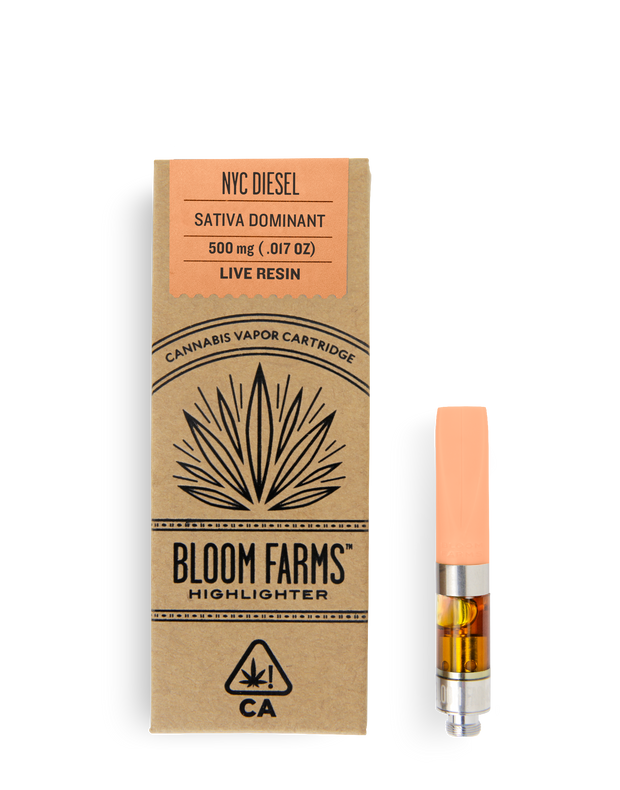 Bloom Farms NYC Diesel 0.5g Live Resin Cartridge 81% THC