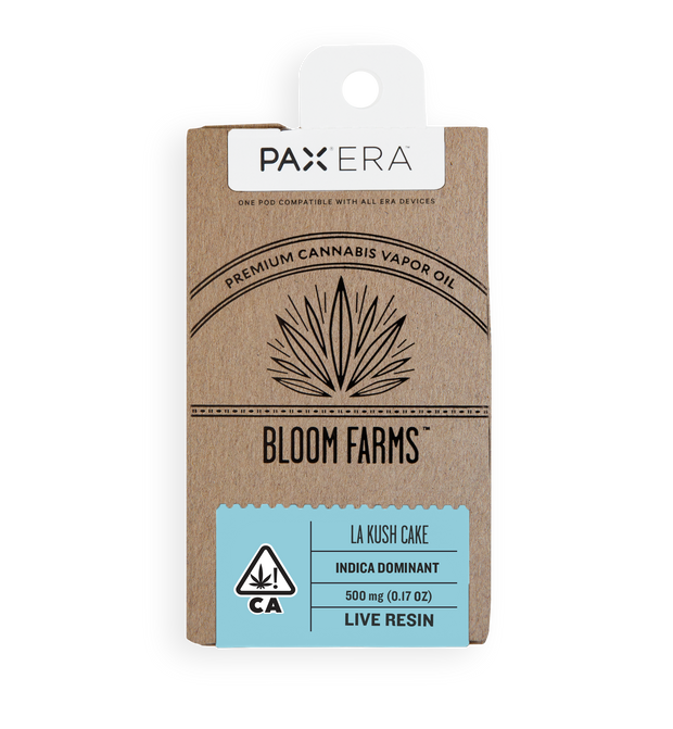 Bloom Farms LA Kush Cake Live Resin Pax era pod