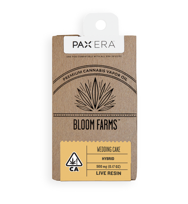 Bloom Farms wedding cake Live Resin PAX Pod
