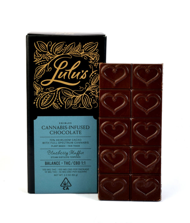 Lulu's Botanicals Balance Cannabis infused chocolate