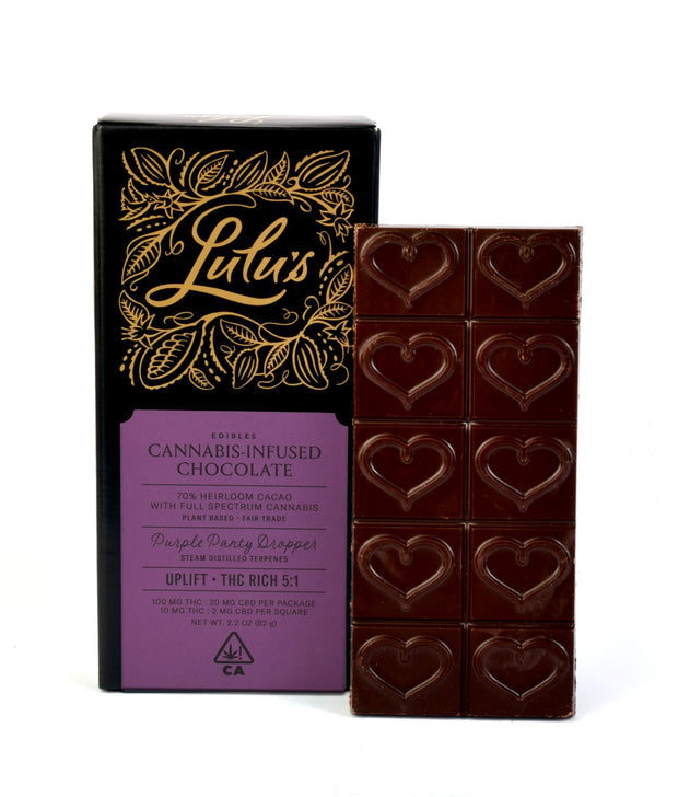 Lulu's Edibles Uplift cannabis infused chocolate