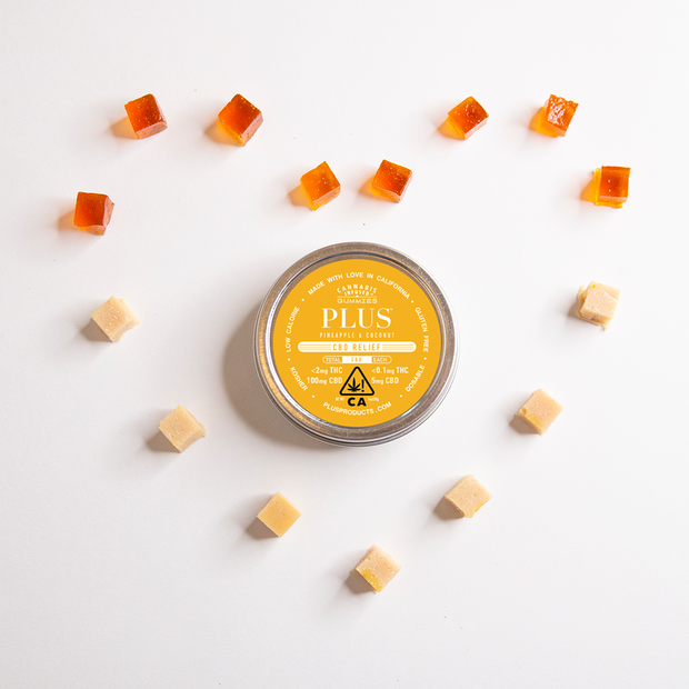 Plus Pineapple & Coconut CBD Relief Gummies