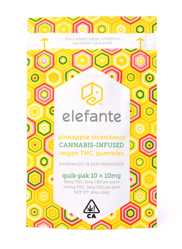 Elefante Pineapple Strawberry Gummies 100mg