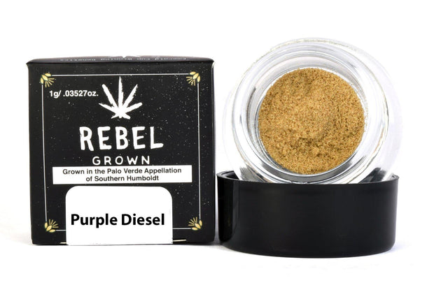 Rebel Grown Purple Diesel Strain Bubble Hash