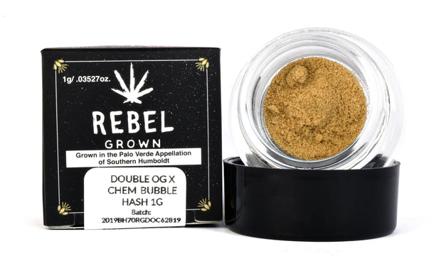 Rebel Grown Double OG Chem Bubble Hash