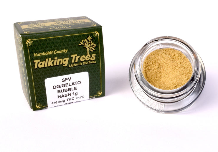 SFV OG Hash / Gelato strain Bubble Hash Talking Trees