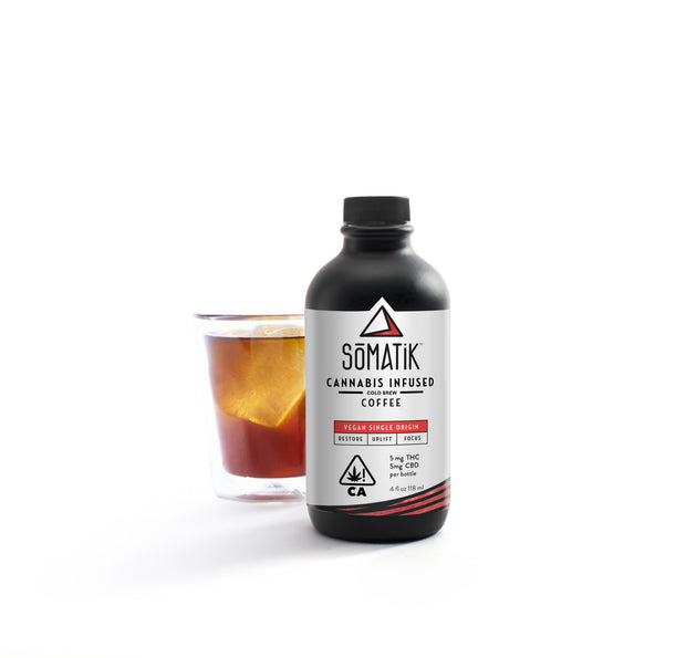 Somatik cannabis infused cold brew coffee 1:1 CHD:THC