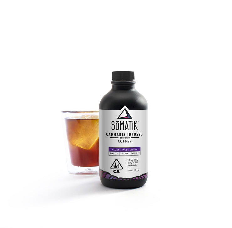 Somatik cannabis infused cold brew coffee THC
