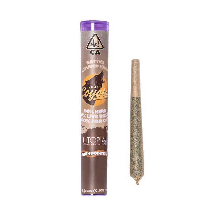 space coyote live resin infused 1g pre roll buy cannabis petaluma california