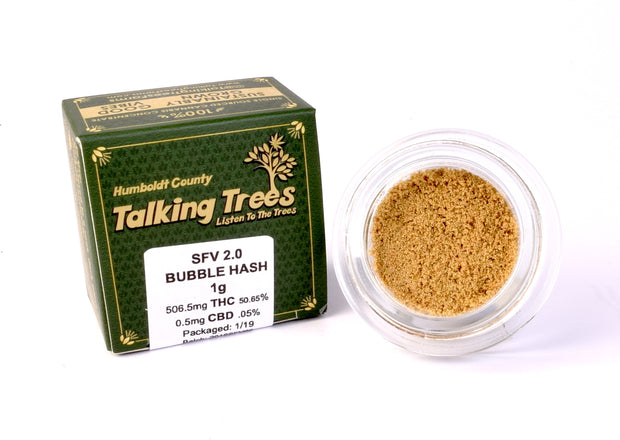 Talking Trees Farms SFV OG strain Bubble Hash