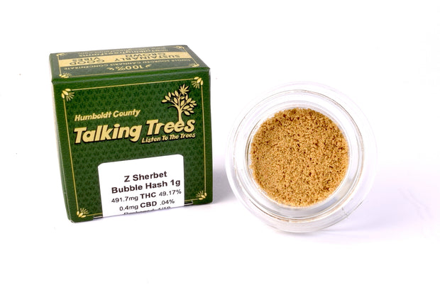 Talking Trees Z Sherbet Bubble Hash Sonoma County