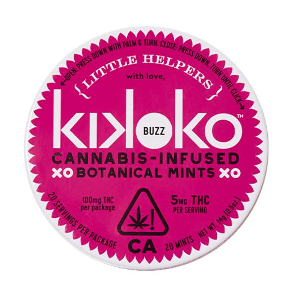 kikoko little helpers buzz cannabis infused botanical mints delivery petaluma sonoma marin counties
