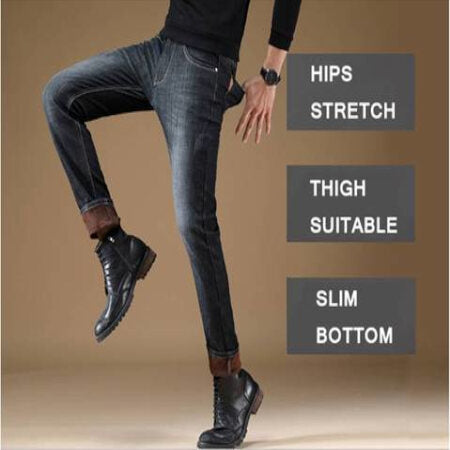 Schwarz gefütterte Slim Fit Winterjeans Leg Out FAQs