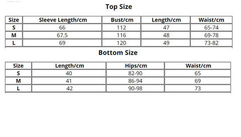Hot Green Two Piece Street Style Tracksuit size chart